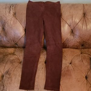 Vince skinny suede leather xs pants new